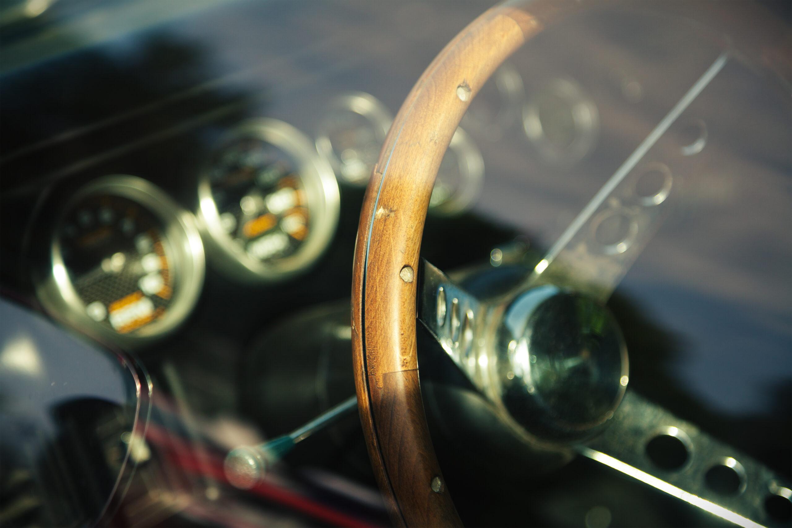 Interior photo of the American classic car